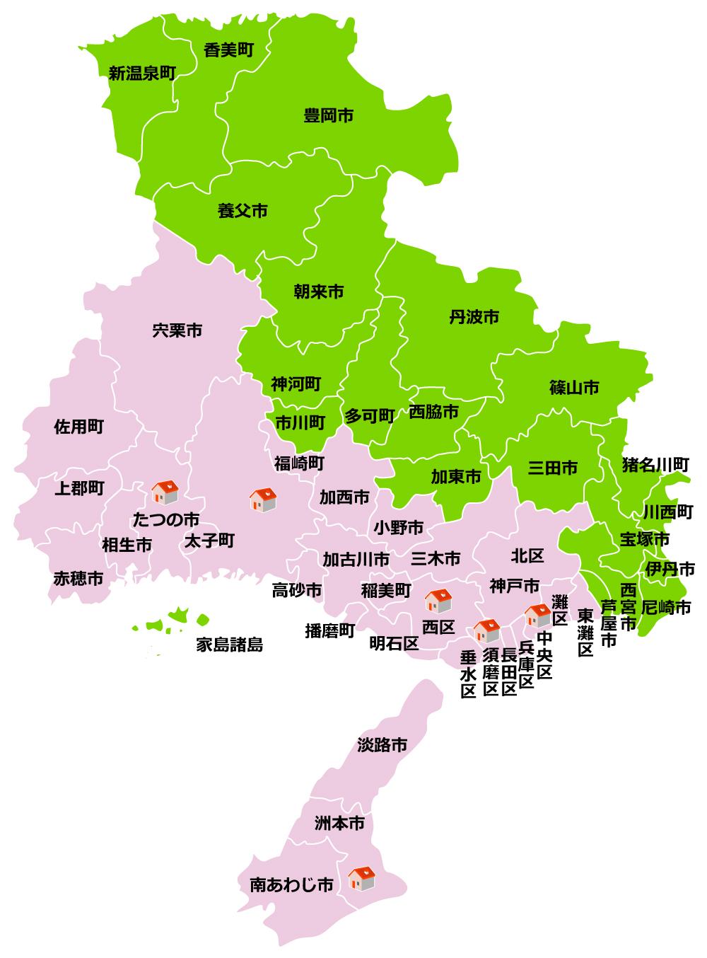 ダスキン播磨 播磨地図