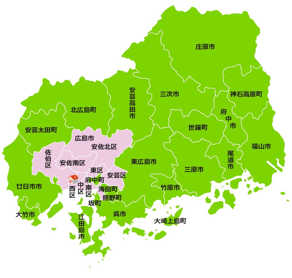 ダスキン播磨 広島地図
